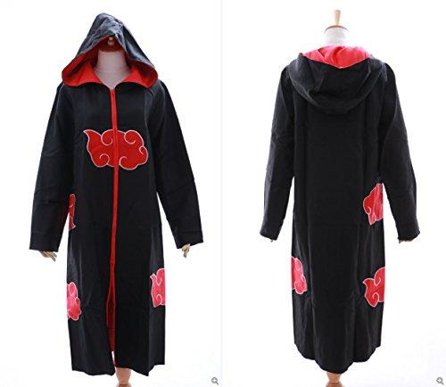 Kawaii-Story MN-N-02 Akatsuki Naruto Sasuke Team Taka Kapuzen Mantel Umhang Coat Cosplay Kostüm (Size XL)