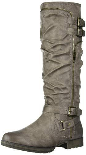 Fergalicious Women's Hazard Knee High Boot, Grey, 10