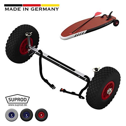 SUPROD SUP-Räder, Stand Up Paddle Board Wheels, Transport-Wagen, UP260, Edelstahl, schwarz/rot