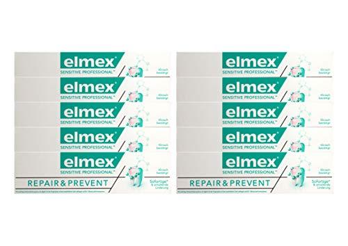 10x elmex SENSITIVE PROFESSIONAL REPAIR & PREVENT Zahnpasta 75ml Zahncreme