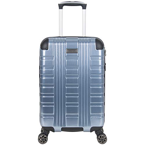 Kenneth Cole Reaction Scott's Corner Hardside Expandable 8-Wheel Spinner TSA Lock Travel Suitcase, Stone Blue, 20-inch Carry On