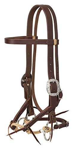 """Weaver Leather Justin Dunn Bitless Bridle Oiled Canyon Rose, 1"""" Average"""