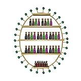 WanuigH Organizador de Esmalte de Uñas Polaco de uñas Organizador Muro Monurado Aceite Esencial/Esmalte de uñas Esmalte de uñas Esmalte de Esmalte Tamaño Espacioso (Color : Gold, Size : 78x62x5cm)