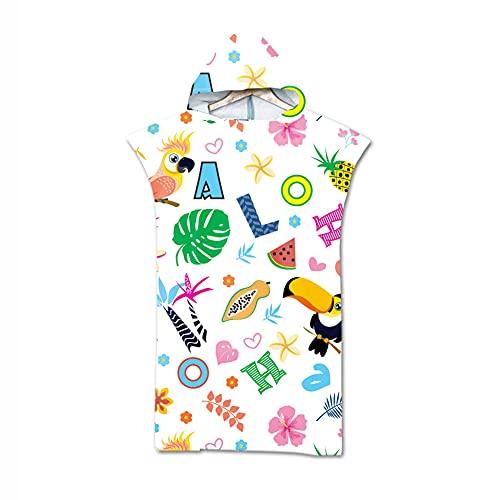 Smilsiny Poncho de baño, poncho de surf de microfibra, para hombres y mujeres, ligero y de secado rápido, poncho de playa, toalla para natación, buceo, 110 x 75 cm (4)