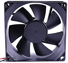 Electronic Spices DC 12V 3'' INCH Cooling Fan for PC Case, CPU Cooler Radiator 20 x 20 x 11 (Black) (3 inch fan)