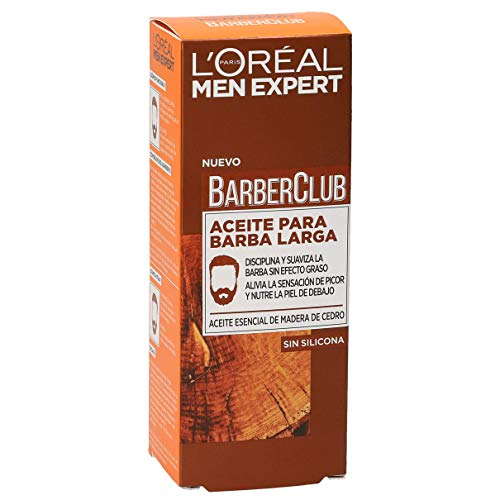 L'Oréal Paris Men Expert Barber Club Aceite Hidratante para Barba Larga y Rostro - 30 ml