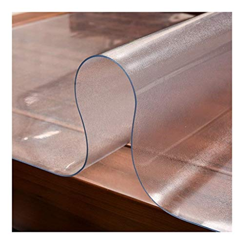 Plastic Placemats Corner Kitchen Mat Multi Maat Pad - PVC Vinyl Top Protector for Rectangle Bureau, Houten Lijst dekking for de eettafel - Heavy Duty Tablecloth (Size : 80 * 130CM)