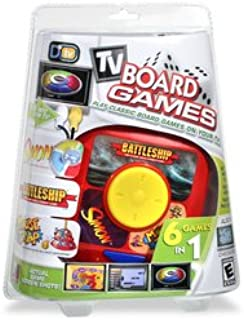 Mammoth Toys 6-in-1 Plug 'N Play Games: Battleship, Simon, Mousetrap, Checkers, Link a Like and Roll Over