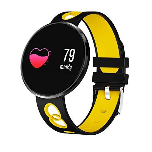 YDK CF006H Reloj Deportivo Mujeres, Hombre Digital SmartWatchip68 Reloj Deportivo a Prueba de Agua Correa Inteligente de Fitness,C