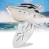 WJMY Griglia di ventilazione in acciaio inox, con chiusura a farfalla, per affumicatore, barca, camper, casa, ecc. (diametro 125 mm)
