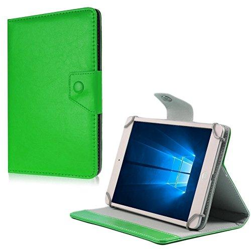 NAUC Medion Lifetab X10302 P10400 P10506 Tablet Tasche Hülle Schutzhülle Case Cover, Farben:Grün