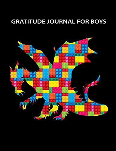 Gratitude Journal for Boys: The Unofficial LEGO Blocks Dragon Notebook ~ Daily Gratitude Journal with Prompts for Boys - Sketchbook for Drawing, Doodling & Sketching