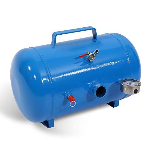 Changor Inflador de neumático Adecuado, medidor de Aire con válvulas de acción de Metal Volumen de Aire para camión (Azul)