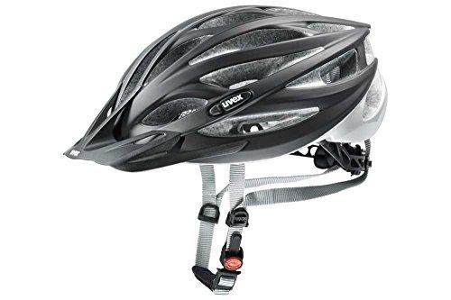 Uvex Unisex– Erwachsene, oversize Fahrradhelm, black mat silver, 61-65 cm