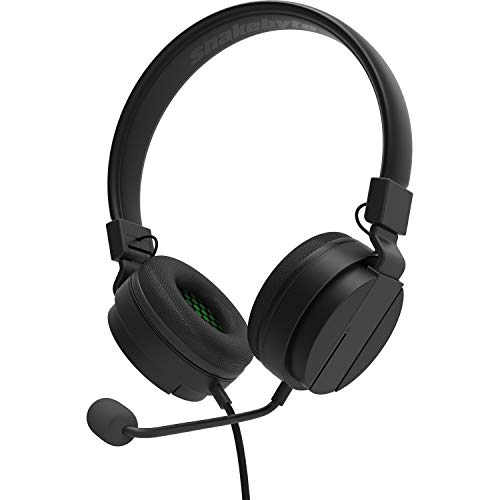 snakebyte Xbox HEADSET SX - Serie Xbox SX Auriculares estéreo para juegos, driver de audio de 40mm, micrófono desmontable, auriculares acolchados, jack de 3,5mm, compatible - PS5, Xbox, PC, Skype