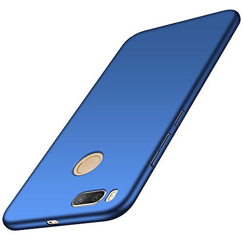Anccer Funda Xiaomi Mi 5X / Xiaomi Mi A1, Ultra Slim Anti-Rasguño y Resistente Huellas Dactilares Totalmente Protectora Caso de Duro Cover Case (Azul Liso)