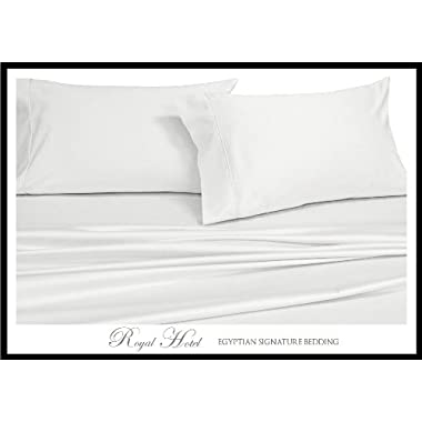 King Size White Silky Soft bed Pillowcases 100% Rayon from Bamboo 2PC Pillow Cases