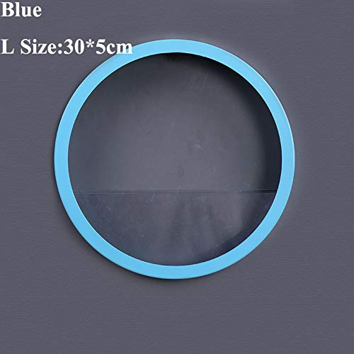 DEYGUKY Kreative Runde Metall Eisen Kunst Wand Vase Hydroponische Pflanze Hängen Blumentopf Wand Pflanzer Transparent Aquarium Bonsai Wohnkultur Blue (L)