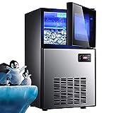 W Macchina for il ghiaccio 60KG acqua in bottiglia ghiaccio automatica della macchina fabbricatore di ghiaccio macchina commerciale cubetti 220V casa ghiaccio (Color : 220V, Size : CN Plug)