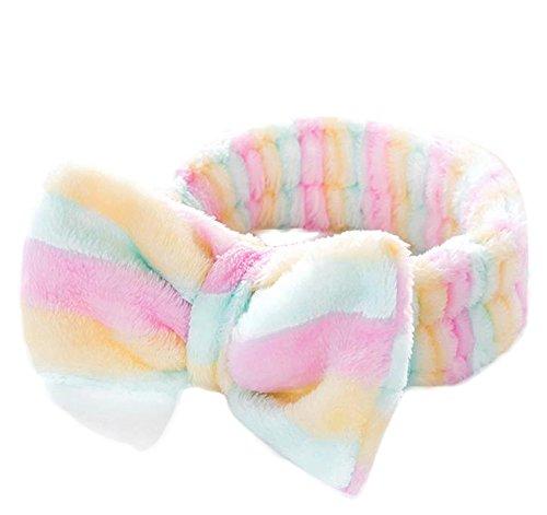 Demarkt Bandeau, Cute Bow Bandeau Sweet Lovely élastique bande Maquillage Turban BandeA 1PC