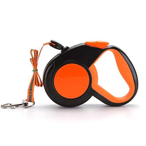 Ausziehbare Hundeleine Automatische Hund Versenkbar Leine 8M/26ft für Kleine Hunde und Mittelgroße Hunde bis 50 kg, Anti-Rutsch Griff, Sicheres Bremssystem (Orange)