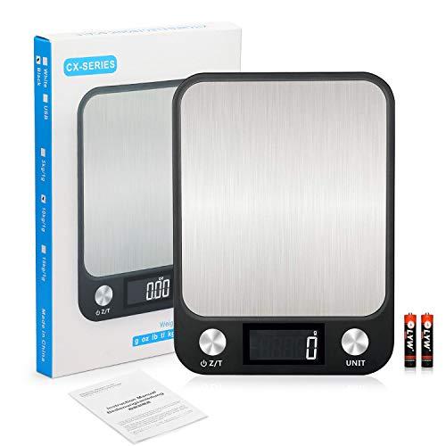 KINLO Digitalwaage Küchenwaagen 10 kg Professionelle LCD Electronische Küchenwaage,wunderbare Präzision auf bis zu 1g(10kg Maximalgewicht) Inkl. Batterien