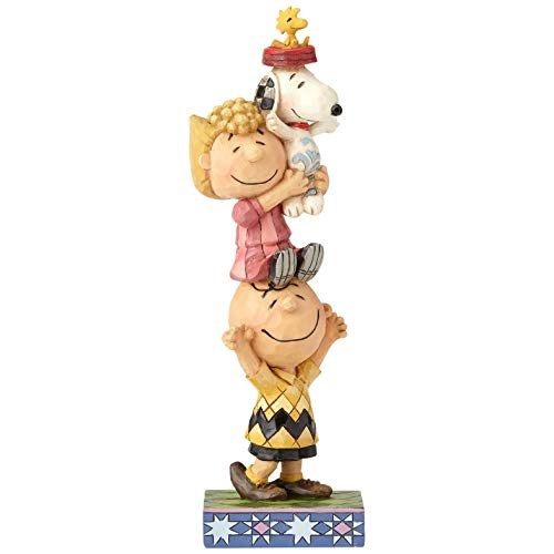 Enesco Peanuts by Jim Shore Charlie Brown and Friends You Lift Me Up Figur, 18,4 cm, Mehrfarbig