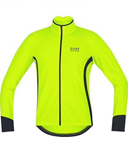 Gore Bike Wear, Maillot para Ciclismo, Hombre, Térmico, Manga Larga, Power 2.0 Thermo, Talla XL, Amarillo neón/Negro, KPOWTH