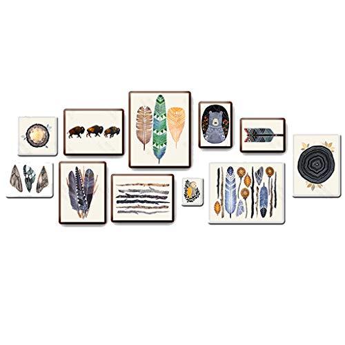 ZUQIEE Marco de fotos de pared estilo nórdico marco de fotos para sala de estar, simple y moderno marco de fotos de pared creativa combinación decorativa pintura