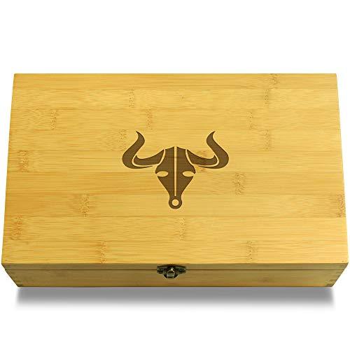 LANZHEN-RY Humidificateur de cigares Livre de Cuisine Les Gens Cigares Multikeep Box - Keepsake Bois Organisateur réglable pour Cadeau (Color : Bullsk)