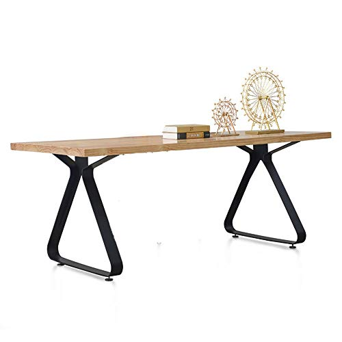 Qiupei Laptop Desk Work Table for Home Office Industrial Vintage Wood Computer Desk Compact Home Office Workstation (Color : Natural, Size : 180x70x75cm)