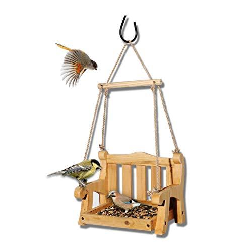 JXXDDQ Mangeoire à Oiseaux à balançoire rétro, mangeoire à Oiseaux extérieure pour décoration de Villa de Jardin avec Cour