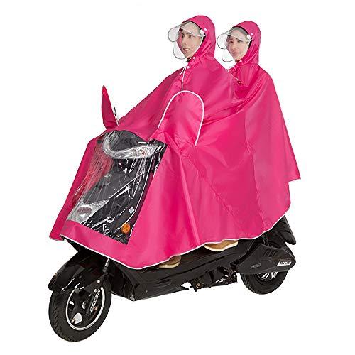 Dongyd Fahrradjacke Unisex Tandem Fahrrad, Ebike, Motorrad, Roller Poncho Regenmantel Schal (Farbe : Rosa, größe : XXXL)