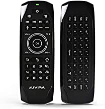 AuviPal G9 Pro+ Backlit 2.4GHz Wireless Air Mouse Remote with Google Voice Assistant, QWERTY Keyboard, 4 Programmable Keys and Build-in Rechargeable Battery for Nvidia Shield, Android TV Box and More