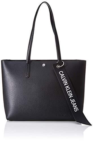 Calvin Klein Damen Ckj Banner Ew Shopper Tote, Schwarz (Black), 12.5x29.5x41.5 centimeters