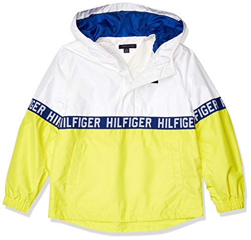 Tommy Hilfiger Boys' Adaptive Sporty Colorblock Jacket with Zipper, Banana Peel, SM
