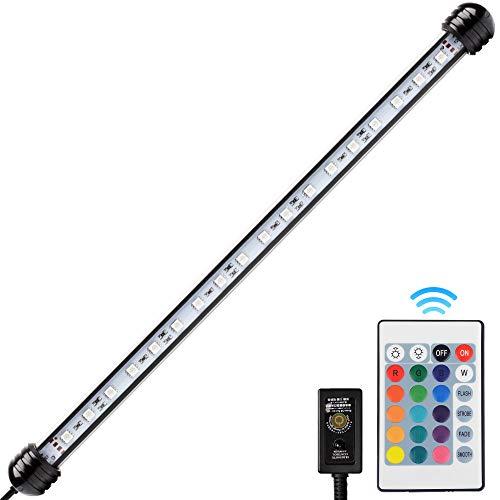 NICREW Lampe LED RGB 38cm pour Aquarium, Lampe Tube Etanche et Submersible, Eclairage LED pour Aquarium, 4W