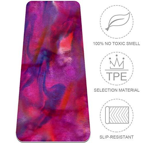 VFSS Pink Dream Non Slip Hot Yoga,Sweat Absorbent, Super Soft, Corner Pockets, Mat-Sized, Skidless Microfiber, Ideal for Yoga, Bikram