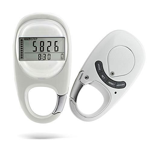 SOOTOP Schrittzähler, digital, 3D, tragbar, mit Karabiner, Schrittzähler für Gehübungen, Fitness, für Männer, Frauen und Kinder.