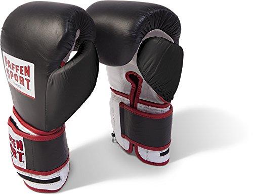 Paffen Sport PRO Weight Boxhandschuhe für das Training; schwarz/weiß/rot; GR: L/XL