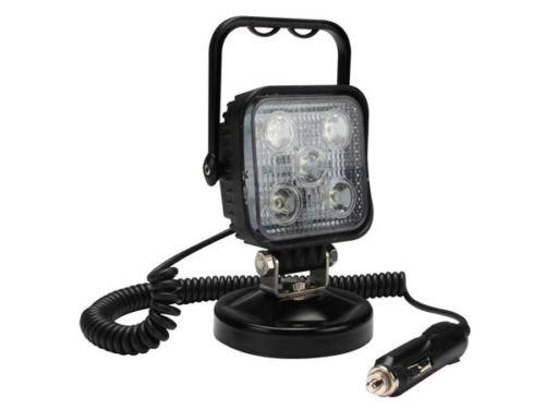 Proyector de proyecto de cantera con lámpara LED 15 W magnética 12 V toma de encendedor