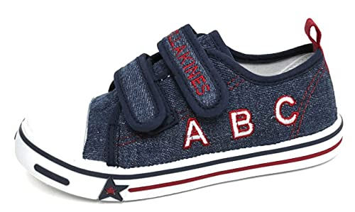 Zapatillas para Niño Lona Bordada con Velcro | Bambas Bonitas Chico para Primavera Verano - Sami