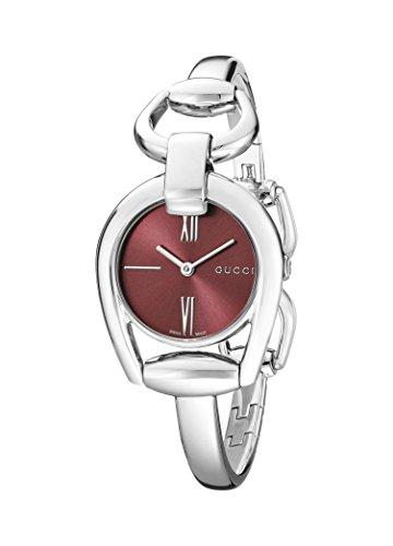 Gucci YA139502 - Reloj de Cuarzo para Mujer, con Correa de Acero Inoxidable, Color Platead