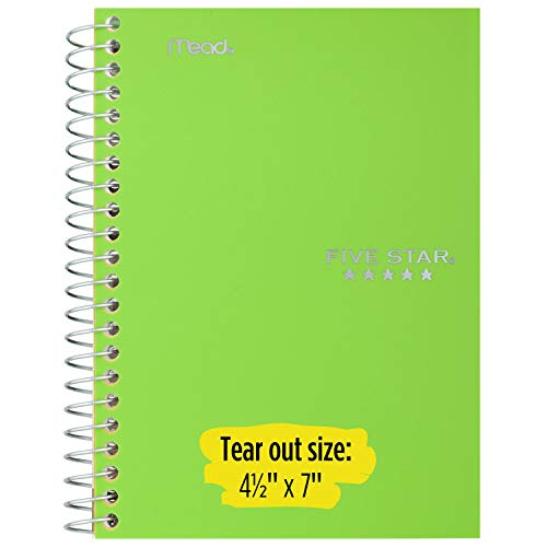 """Five Star Spiral Notebooks, 1 Subject, College Ruled Paper, 100 Sheets, 7 x 5"""", Personal Size, Colors Selected For You, 2 Pack (73707) Photo #4"""