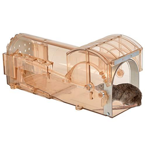 POKIENE Mausefalle Lebend - Tierfreundlich Lebendfalle - Kastenfalle Rattenfalle ohne Gift, zur Schädlingsbekämpfung