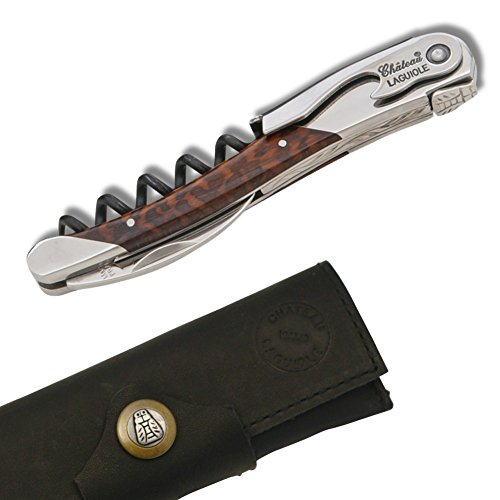 Chateau Laguiole French Handmade Waiter's Corkscrew (Mimosa wood handle)