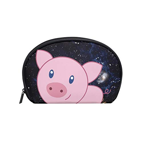 Cosmetic Bag with Zipper Cute Pig Clutch Travel Storage Bag Organizer Case for Women Makeup Pouch Bag