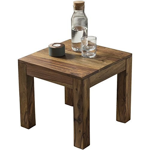 Wohnling WL1.204 Table de Salon en Bois de sheesham Massif 45 x 45 cm