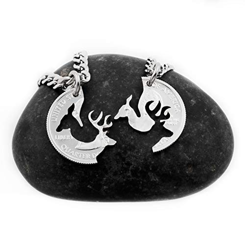 Couples Necklace Set With Buck And Doe