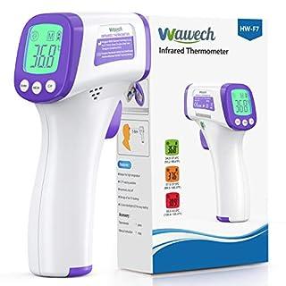scheda wawech termometro febbre infrarossi 2 in 1 termometro frontale professionale a distanza 5-8cm termometro digitale febbre beeper per adulti neonati bambini